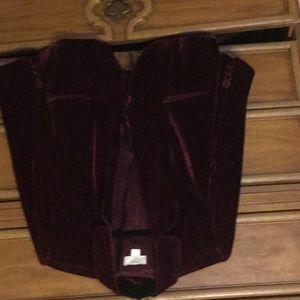 Cropped velvet jacket from The Loft